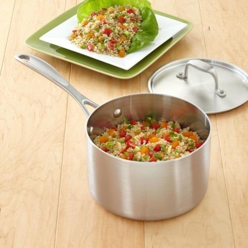 3-quart Premium Stainless Steel Saucepan